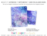 Stars & Moon Personalized Notebook or Sketchbook School & Office Supplies - Everything Nice