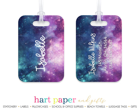 Galaxy Stars Space Luggage Bag Tag School & Office Supplies - Everything Nice