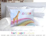 Giraffe Rainbow Personalized Pillowcase Pillowcases - Everything Nice