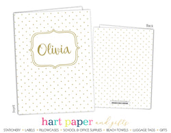 Polka Dots Personalized 2-Pocket Folder School & Office Supplies - Everything Nice