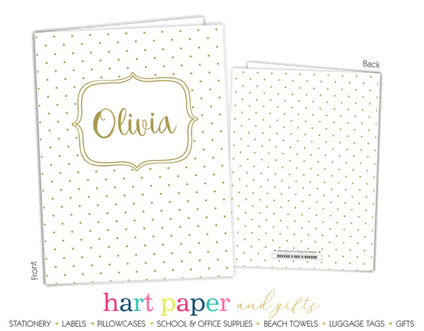 Polka Dots Personalized 2-Pocket Folder