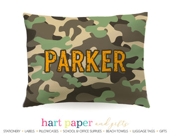 Camo Camouflage Personalized Pillowcase Pillowcases - Everything Nice