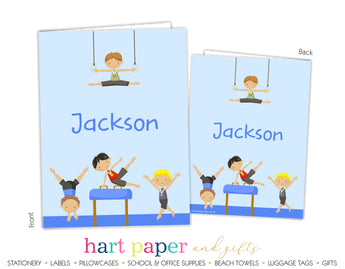 Gymnastics Personalized 2-Pocket Folder School & Office Supplies - Everything Nice