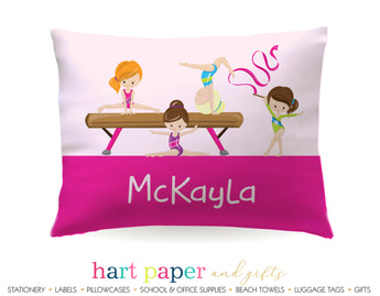 Gymnastics Girls Personalized Pillowcase Pillowcases - Everything Nice