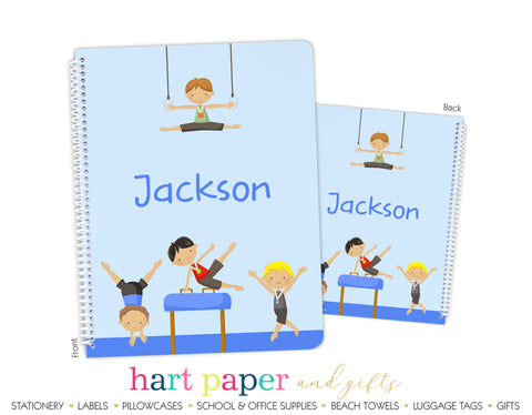 Gymnastics Personalized Notebook or Sketchbook School & Office Supplies - Everything Nice