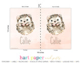 Hedgehog Personalized 2-Pocket Folder School & Office Supplies - Everything Nice
