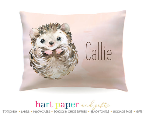 Hedgehog Personalized Pillowcase Pillowcases - Everything Nice
