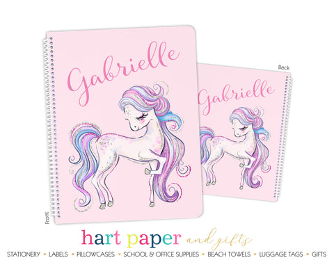 Horse Pony Personalized Notebook or Sketchbook School & Office Supplies - Everything Nice