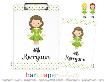 Irish Dancer Dancing Personalized Clipboard School & Office Supplies - Everything Nice