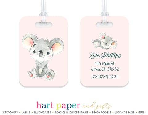 Koala Bear Luggage Bag Tag School & Office Supplies - Everything Nice