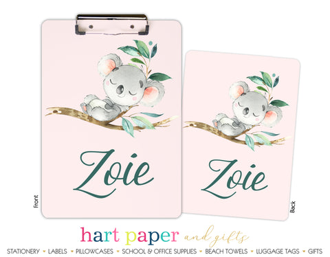 Koala Bear Personalized Clipboard School & Office Supplies - Everything Nice
