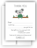 Koala Bears Thank You Cards Note Card Stationery •  Fill In the Blank Stationery Thank You Cards - Everything Nice