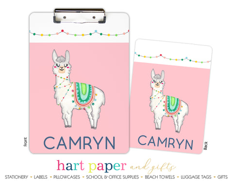 Llama Personalized Clipboard School & Office Supplies - Everything Nice