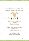 Baby Lamb Sheep Party Invitation • Baby Shower Birthday • Any Colors Baby Shower Invitations - Everything Nice