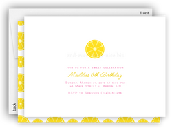 Lemon Lemonade Party Invitation • Baby Shower Birthday Picnic • Any Colors Kids Birthday Invitations - Everything Nice