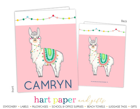 Llama Alpaca Personalized 2-Pocket Folder School & Office Supplies - Everything Nice