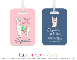 Llama Alpaca Luggage Bag Tag