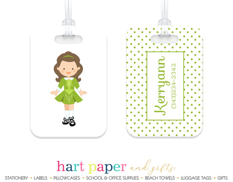 Irish Dancer Dancing Dance Luggage Bag Tag School & Office Supplies - Everything Nice