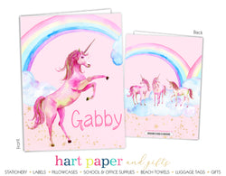 Rainbow Unicorn Personalized 2-Pocket Folder