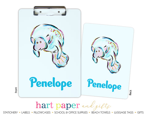 Manatee Personalized Clipboard School & Office Supplies - Everything Nice
