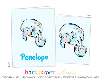 Manatee Personalized 2-Pocket Folder School & Office Supplies - Everything Nice