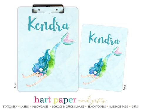 Mermaid b Personalized Clipboard School & Office Supplies - Everything Nice