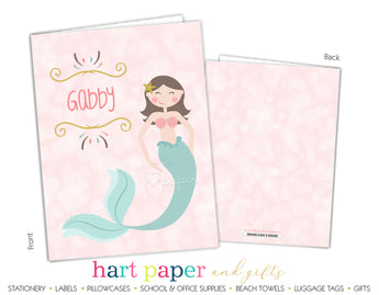 Mermaid Personalized 2-Pocket Folder School & Office Supplies - Everything Nice