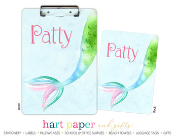 Mermaid Tail b Personalized Clipboard School & Office Supplies - Everything Nice