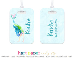 Mermaid b Luggage Bag Tag School & Office Supplies - Everything Nice