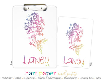 Mermaid c Personalized Clipboard School & Office Supplies - Everything Nice