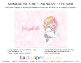 Rainbow Mermaid Narwhal Personalized Pillowcase Pillowcases - Everything Nice