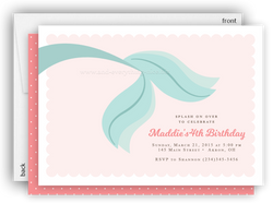 Mermaid Tail Party Invitation • Baby Shower Birthday • Any Colors Baby Shower Invitations - Everything Nice
