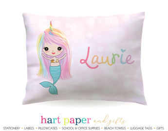 Rainbow Mermaid Personalized Pillowcase Pillowcases - Everything Nice