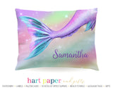 Rainbow Mermaid Tail Personalized Pillowcase Pillowcases - Everything Nice