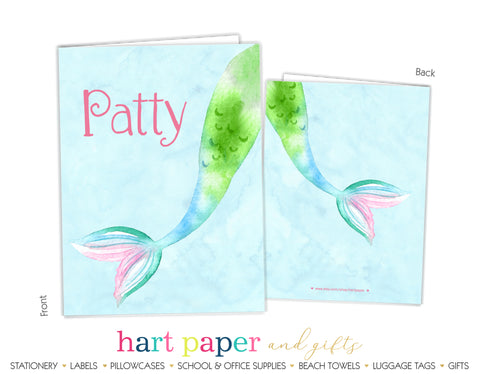 Mermaid Tail Personalized 2-Pocket Folder School & Office Supplies - Everything Nice