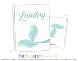 Mermaid Tail Personalized Notebook or Sketchbook School & Office Supplies - Everything Nice