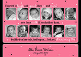 Milestone Collage Photo Birthday Party Invitation • Any Colors Kids Photo Birthday Invitations - Everything Nice