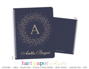 Polka Dot Circle Personalized Notebook or Sketchbook School & Office Supplies - Everything Nice