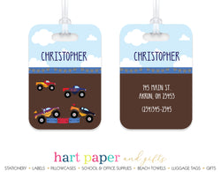 Monster Trucks Luggage Bag Tag