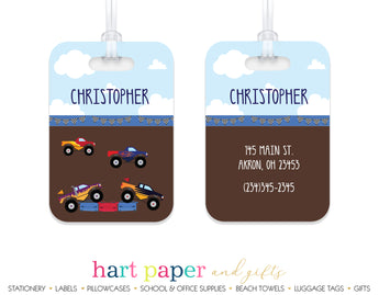 Monster Trucks Luggage Bag Tag School & Office Supplies - Everything Nice