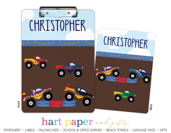 Monster Trucks Personalized Clipboard