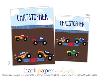 Monster Truck Personalized 2-Pocket Folder School & Office Supplies - Everything Nice