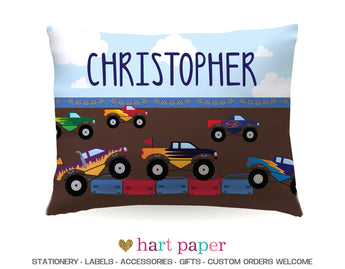 Monster Truck Personalized Pillowcase Pillowcases - Everything Nice