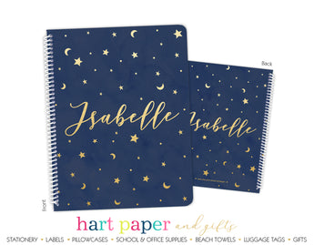 Stars & Moon Personalized Notebook or Sketchbook