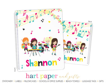 Music Band Personalized Notebook or Sketchbook School & Office Supplies - Everything Nice