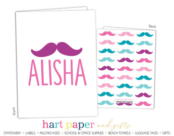 Mustache Personalized 2-Pocket Folder School & Office Supplies - Everything Nice