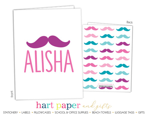 Mustache Personalized 2-Pocket Folder