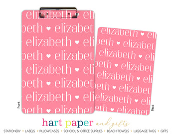 Name Hearts Personalized Clipboard School & Office Supplies - Everything Nice