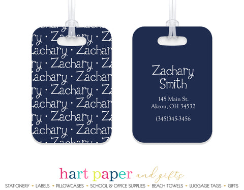 Name ANY COLOR Luggage Bag Tag School & Office Supplies - Everything Nice