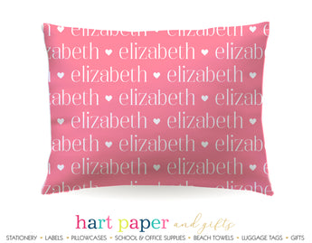 Name Hearts Personalized Pillowcase Pillowcases - Everything Nice